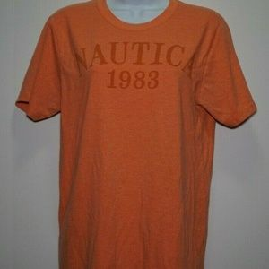 NAUTICA Women's Orange Short Sleeve T-Shirt Sz XL
